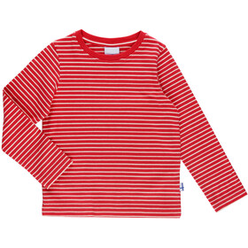 Finkid Sampo Longsleeve Shirt Kinder red/offwhite